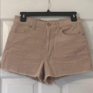 Corduroy pale pink shorts